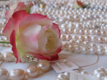 Mother's day pearls and rose